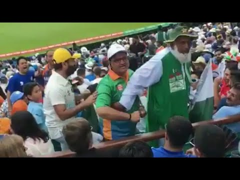 INDIA vs PAKISTAN Fans UGLY Fight During Match At Oval Stadium