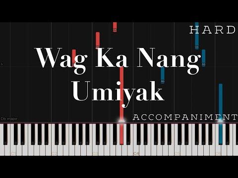 Wag Ka Nang Umiyak - KZ Tandingan | HARD Piano Accompaniment Tutorial (Arr. By Heide Abot)