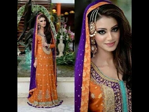 c40252a8722 Pakistani Purple Bridal Dresses For Wedding 2017 - YouTube