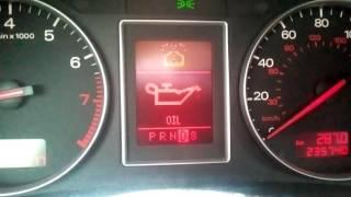 AUDI A4 B6, масленка Oil, проверьте уровень масла.