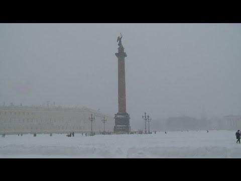 Blizzard Pummels Russia's St  Petersburg
