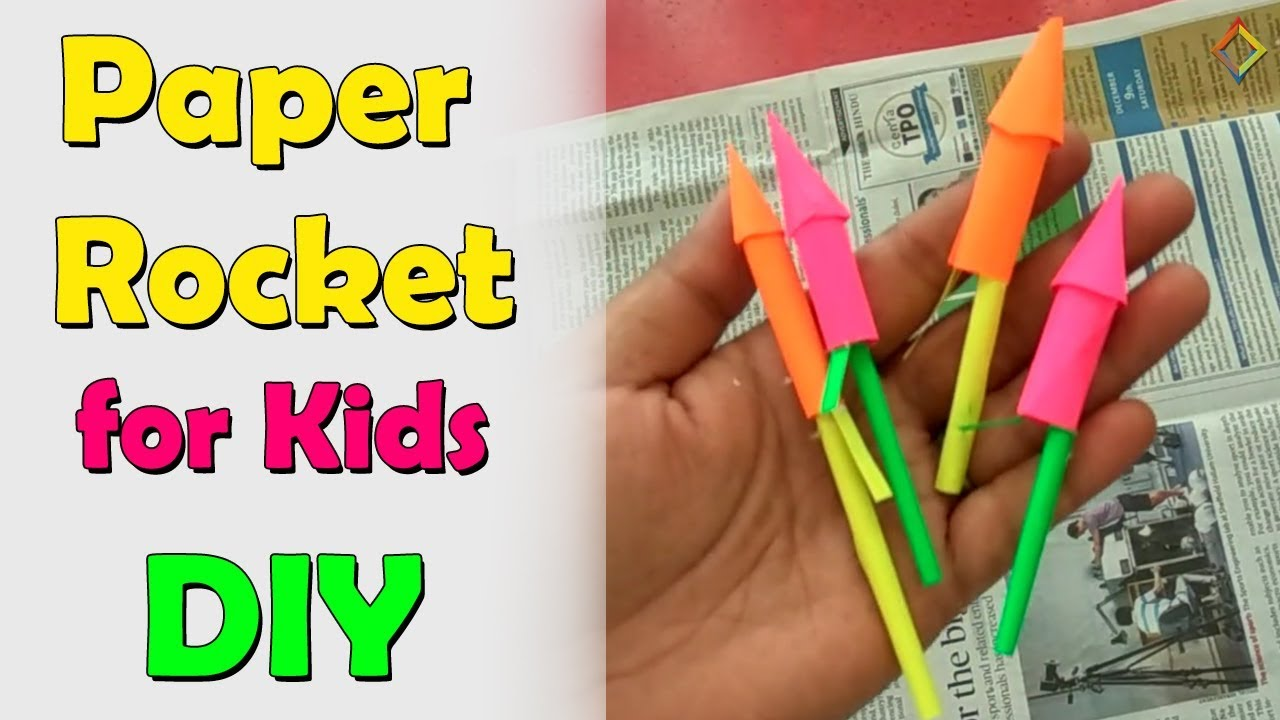 Paper Rocket For Kids Diy Paper Crackers For Kids Diwali Crackers