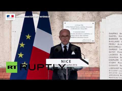 France: Cazeneuve attends funeral for police officer killed in Nice attack