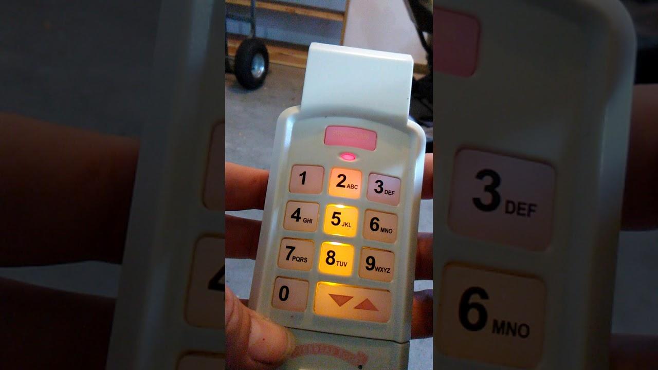 Recode keypad to Overhead Door #1026