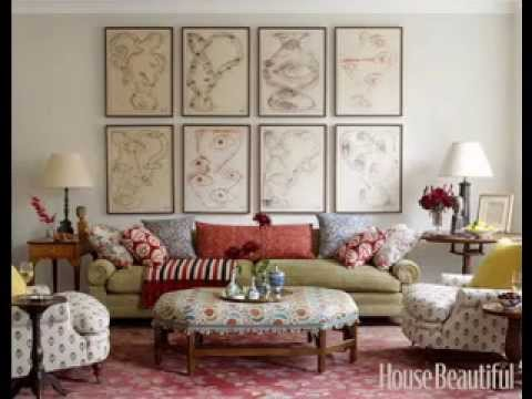 DIY Living room walls decorating ideas - YouTube