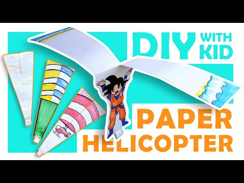 DIY with kid, How to Make a Paper Helicopter, Step by Step!