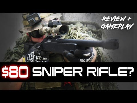 $80 Sniper Rifle-  ASG McMillan M40A3 Review and Gameplay