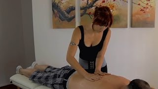 Repeat youtube video Relaxing Back Massage ASMR