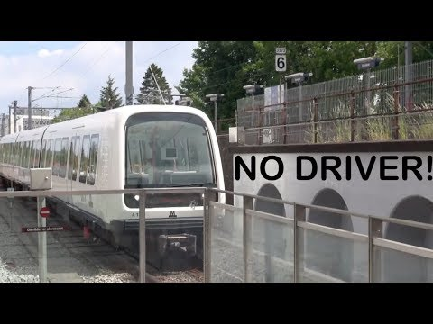 A ride on the Copenhagen Metro. a self driving autonomous driverless train in København Denmark 🚄