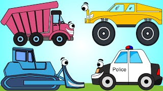 Vehicles and Colors Song | Construction Vehicles For Kids