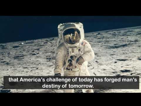 Eugene Cernan gives the best speech on the moon