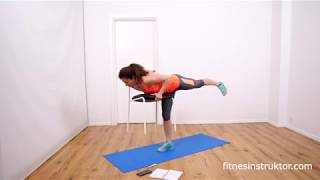 Тренировка със стол, стяга цялото тяло