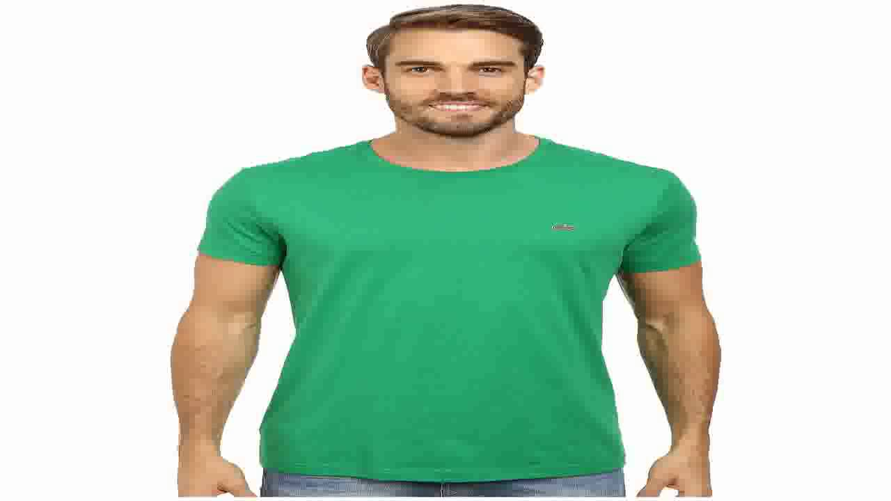 ff9a9519 Lacoste Mens Long Sleeve Jersey Pima Crewneck T Shirt Black 4 - YouTube