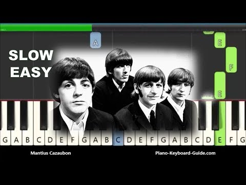 The Beatles Yesterday Slow Easy Piano Tutorial