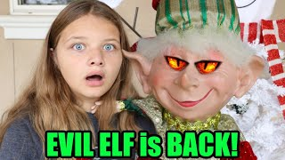 EVIL ELF is BACK! AUBREY and CALEB Find a CREEPY Elf in The HOUSE!