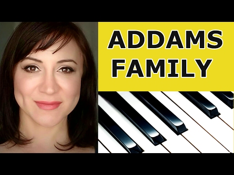 Addams Family Theme Song  Easy Piano Tutorial