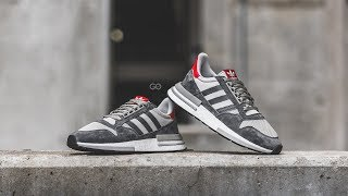 "Adidas ZX 500 RM ""Grey / Scarlet"": Review & On-Feet"