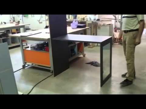 Mesa espejo de pared youtube for Espejos para mesa