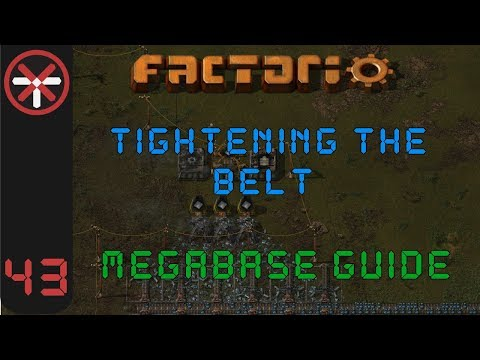 Factorio: Tightening The Belt: Megabase Guide EP43 - 12 LANES OF IRON   Tutorial Gameplay Series