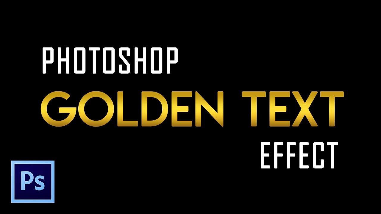 Make Golden Text Effect