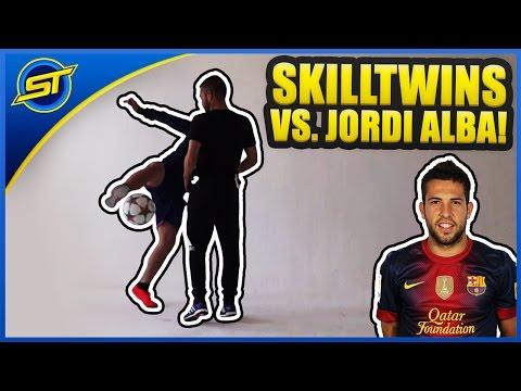 Barcelona Defender JORDI ALBA vs. SkillTwins - Amazing Skills! ★