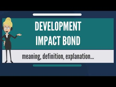 What is DEVELOPMENT IMPACT BOND? What does DEVELOPMENT IMPACT BOND mean?