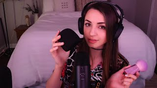ASMR | Top Blue Yeti Triggers 💙 Extreme Close Up Whispering, Brushing, More!