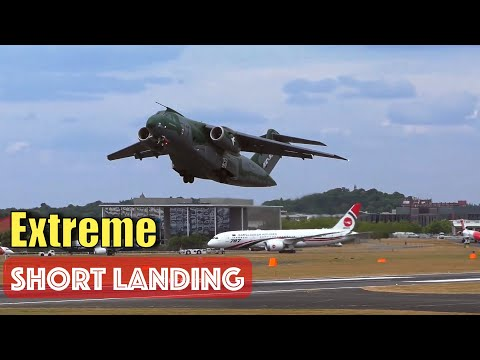 Brazilian Embraer KC-390 Spectacular Short Landing