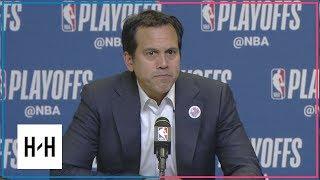 Erik Spoelstra Postgame Interview | Sixers vs Heat - Game 3 | April 19, 2018 | 2018 NBA Playoffs