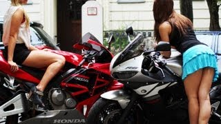 GIRLS GONE WILD Part 1 - ZX-6R vs R6 vs CBR 600 RR - TOP SPEED [1080p]