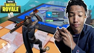 omen skin helps me double pump * fortnite mobile