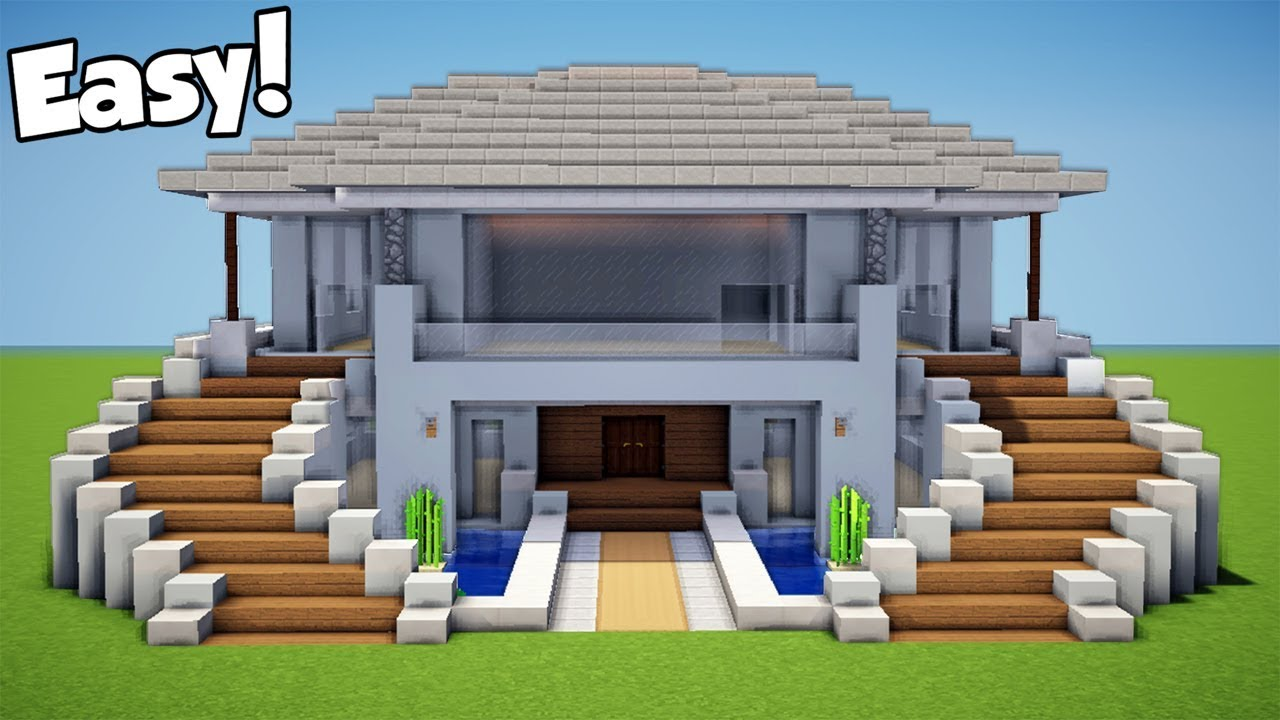 Minecraft  How To Build A Modern House - Mansion Tutorial   12