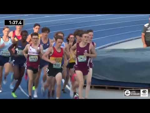 U20 Mens 1500m - Heat 2 - 2018 Australian Junior Athletics Championships
