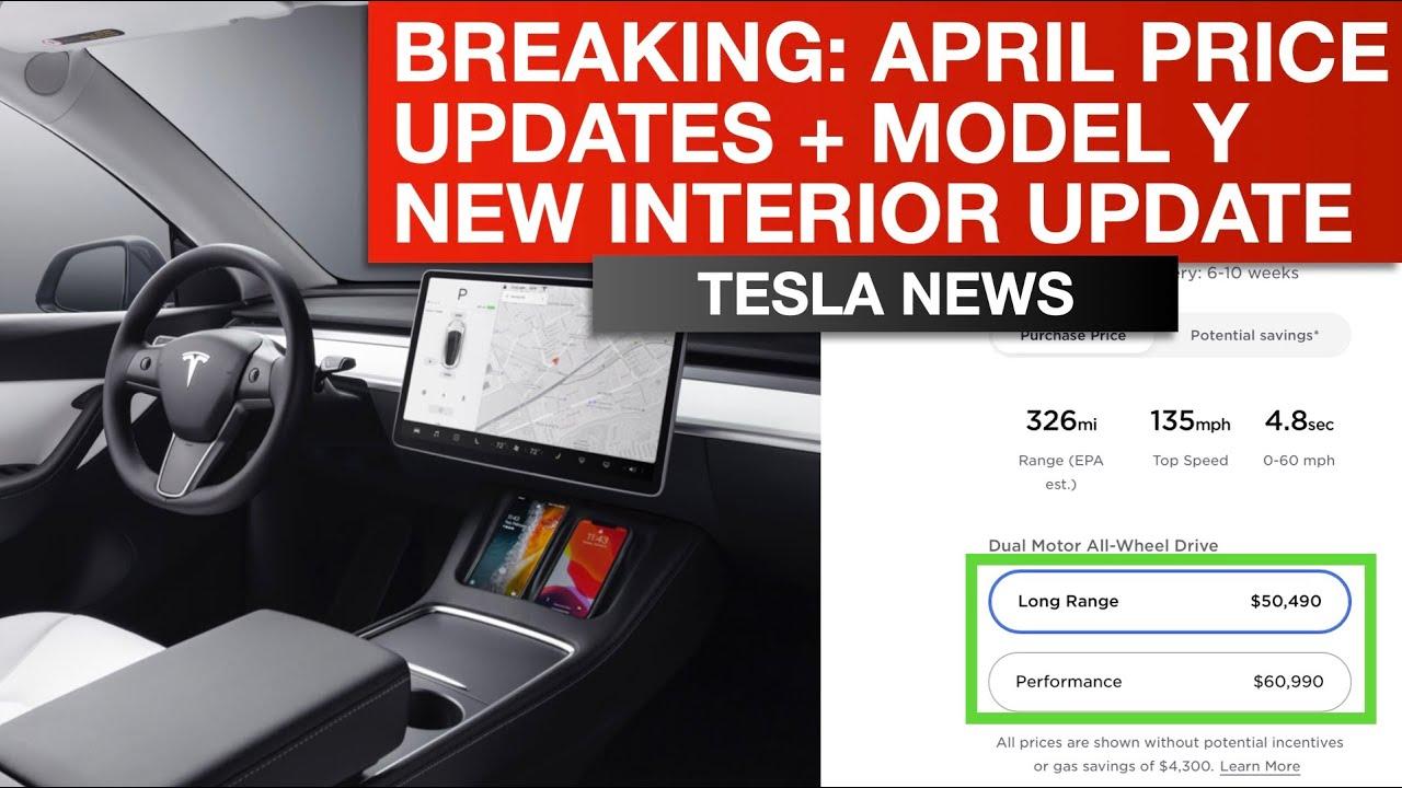 Tesla Breaking News: New Prices & Model Y New Interior