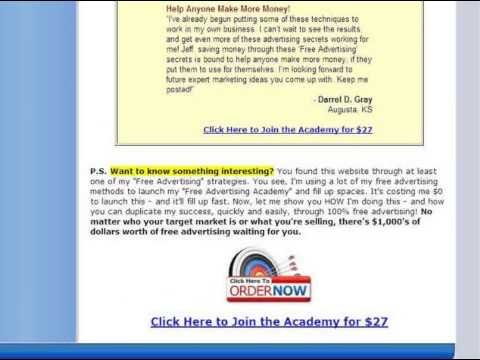 Free Advertising Academy