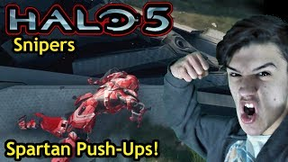 Spartan Push-Ups! [Halo 5 - EP:43] (Snipers on Coliseum)
