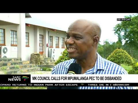 MK Council calls for Mpumalanga PEC disbandment