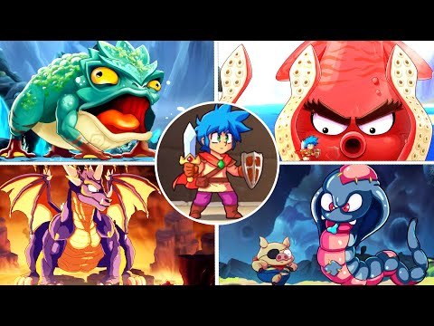 Monster Boy And The Cursed Kingdom All Bosses (Included Final Boss with Ending)