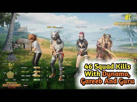 46 Squad Kills With Dynamo Gaming, Gareebooo And Gaming Guru | Pubg Mobile Intense Match Season 5