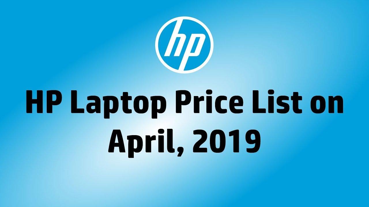Hp Laptop Price List On April 2019 Youtube