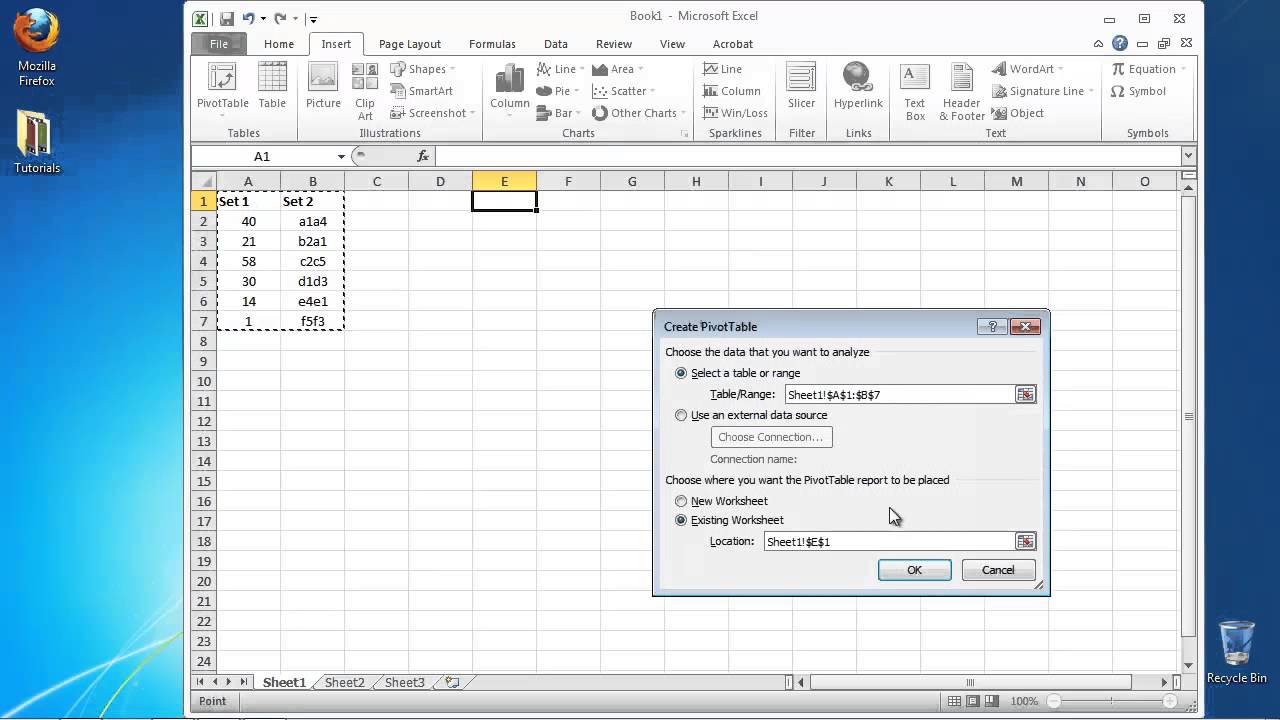 How To Create Pivot Table In Excel >> How To Create A Pivot Table In Excel Youtube