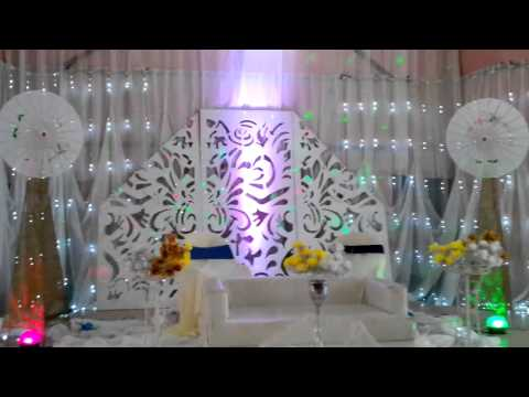 Wedding Reception Stage light Mandap Decor