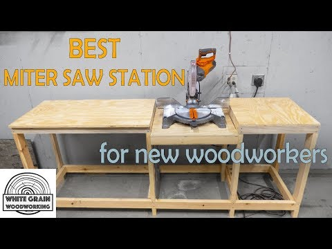 Miter Saw Station for Beginners in Woodworking | How to/DIY