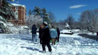 Snow Fun At Sweet Briar College