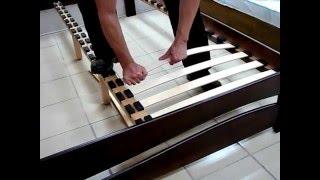 видео Кровать Классик-2 с основанием с гибкими ламелями венге