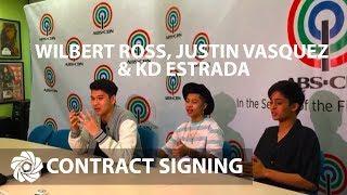 Wilbert Ross, Justin Vasquez & KD Estrada   Contract Signing