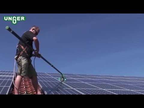 Solar Panel Cleaning with Unger HiFlo System - Video - UNGER