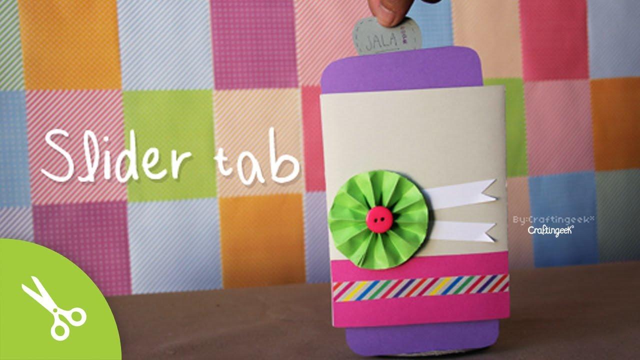 Slider Tab: Tarjeta Scrapbook San Valentín // Card - YouTube