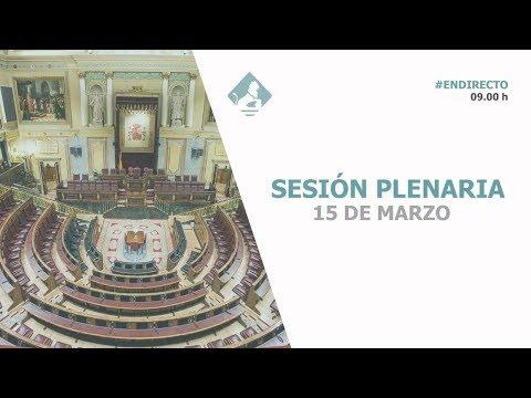 Sesión Plenaria (15/03/2018)