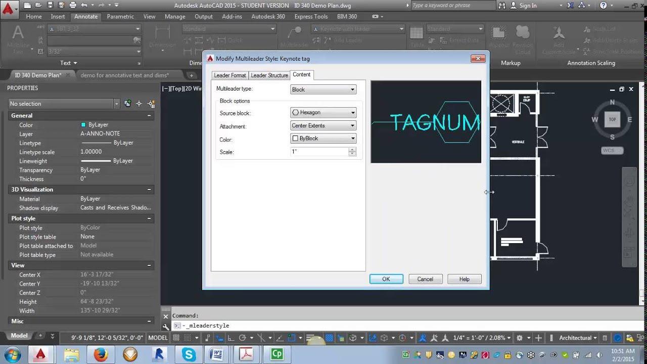 Drawing Lines In Keynote : Autocad demo keynote leader styles youtube